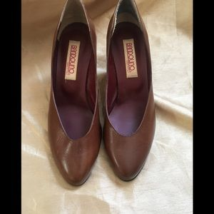 Shoes - Vintage pumps in the perfect chocolate color.